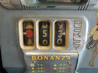 Antique Buckley Bonanza 5 Cent Slot Machine Beautiful Collectible